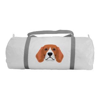 Illustration dogs face Beagle Gym Bag