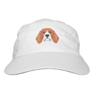 Illustration dogs face Beagle Hat