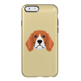 Illustration dogs face Beagle Incipio Feather® Shine iPhone 6 Case