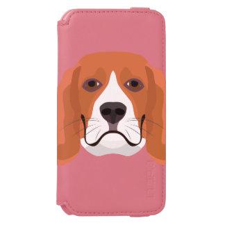 Illustration dogs face Beagle Incipio Watson™ iPhone 6 Wallet Case