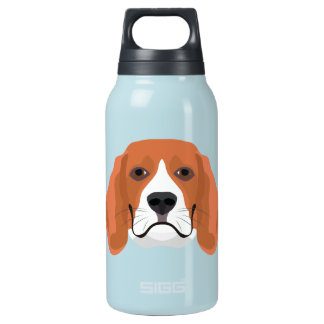 Illustration dogs face Beagle Insulated Water Bottle