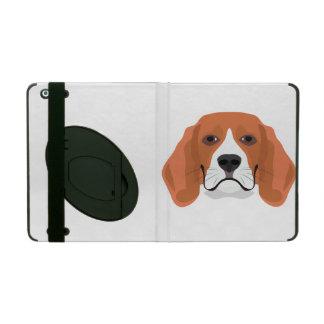 Illustration dogs face Beagle iPad Case