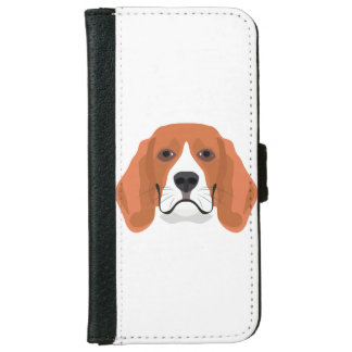 Illustration dogs face Beagle iPhone 6 Wallet Case