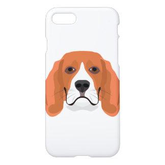 Illustration dogs face Beagle iPhone 8/7 Case