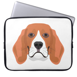 Illustration dogs face Beagle Laptop Sleeve