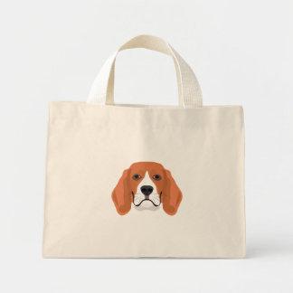 Illustration dogs face Beagle Mini Tote Bag