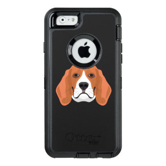 Illustration dogs face Beagle OtterBox Defender iPhone Case