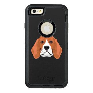 Illustration dogs face Beagle OtterBox Defender iPhone Case