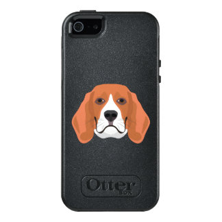 Illustration dogs face Beagle OtterBox iPhone 5/5s/SE Case
