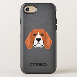 Illustration dogs face Beagle OtterBox Symmetry iPhone 8/7 Case