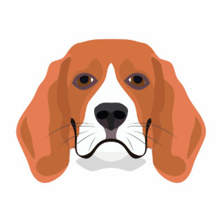 Illustration dogs face Beagle Photo Sculpture Badge