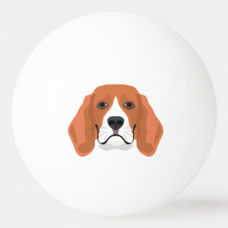 Illustration dogs face Beagle Ping Pong Ball