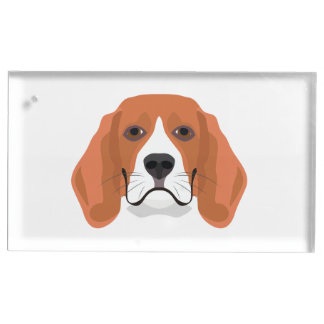 Illustration dogs face Beagle Place Card Holder