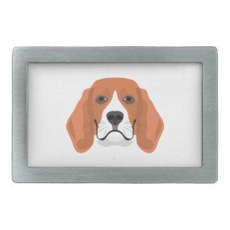 Illustration dogs face Beagle Rectangular Belt Buckle