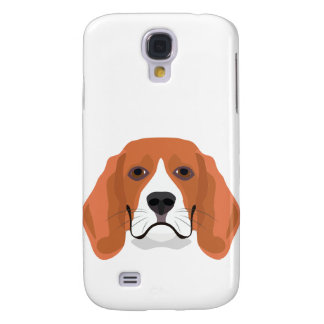 Illustration dogs face Beagle Samsung Galaxy S4 Cover