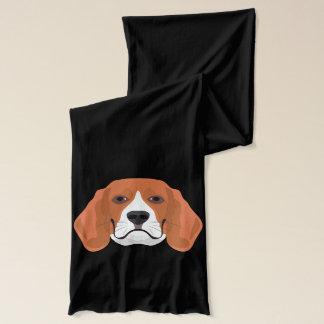Illustration dogs face Beagle Scarf