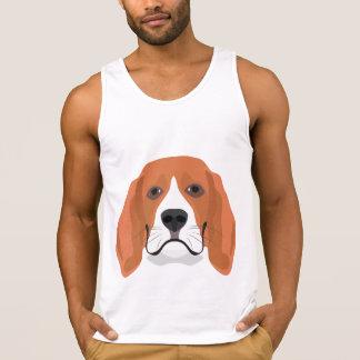 Illustration dogs face Beagle Singlet