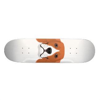 Illustration dogs face Beagle Skate Boards