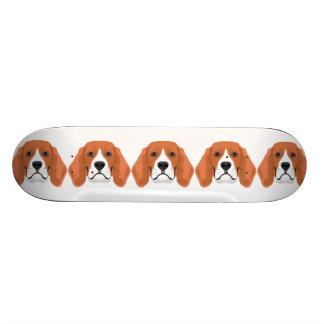 Illustration dogs face Beagle Skate Deck