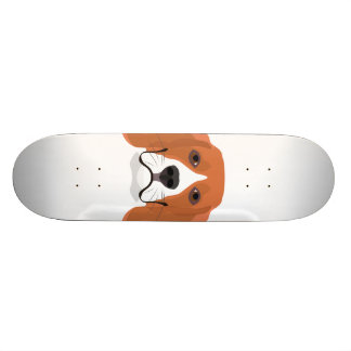 Illustration dogs face Beagle Skateboard Deck