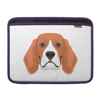 Illustration dogs face Beagle Sleeve For MacBook Air