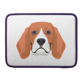 Illustration dogs face Beagle Sleeve For MacBooks