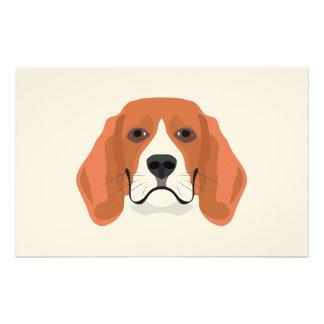 Illustration dogs face Beagle Stationery