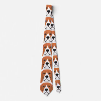 Illustration dogs face Beagle Tie