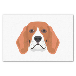 Illustration dogs face Beagle Tissue Paper