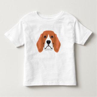 Illustration dogs face Beagle Toddler T-Shirt
