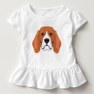 Illustration dogs face Beagle Toddler T-Shirt