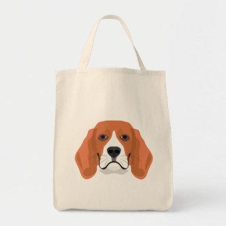 Illustration dogs face Beagle Tote Bag