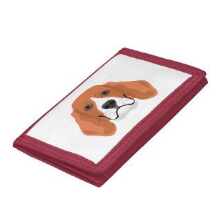 Illustration dogs face Beagle Tri-fold Wallet