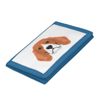 Illustration dogs face Beagle Trifold Wallets