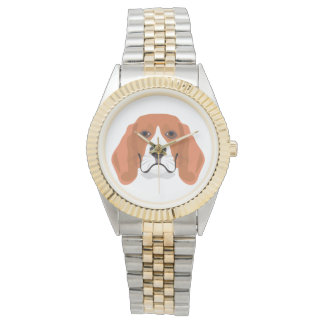 Illustration dogs face Beagle Watch