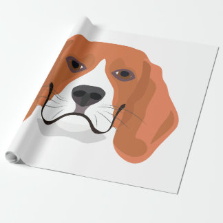 Illustration dogs face Beagle Wrapping Paper
