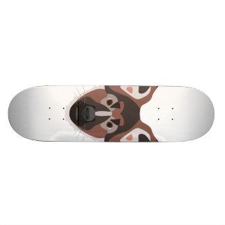 Illustration dogs face German Shepherd Skate Board Deck