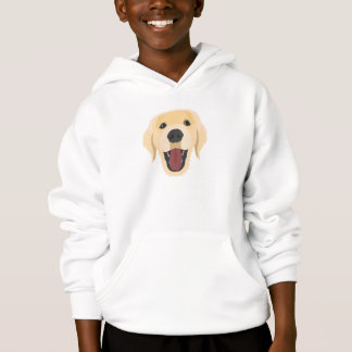 Illustration dogs face Golden Retriver