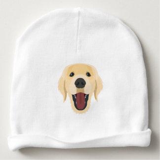 Illustration dogs face Golden Retriver Baby Beanie