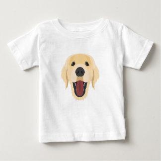 Illustration dogs face Golden Retriver Baby T-Shirt