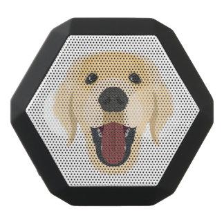 Illustration dogs face Golden Retriver Black Bluetooth Speaker