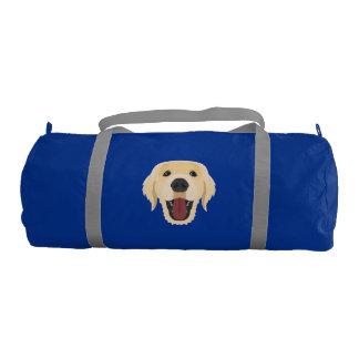 Illustration dogs face Golden Retriver Gym Bag