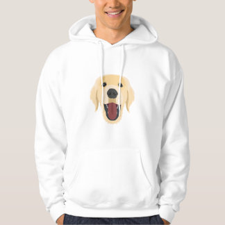 Illustration dogs face Golden Retriver Hoodie