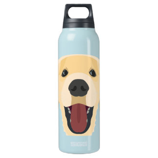 Illustration dogs face Golden Retriver Insulated Water Bottle