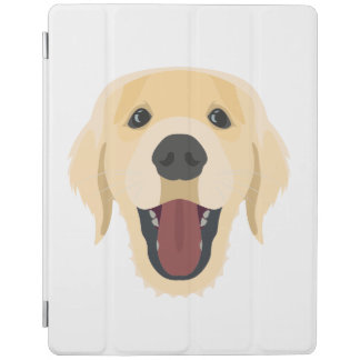 Illustration dogs face Golden Retriver iPad Cover