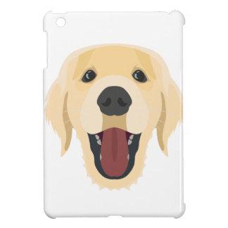 Illustration dogs face Golden Retriver iPad Mini Cover
