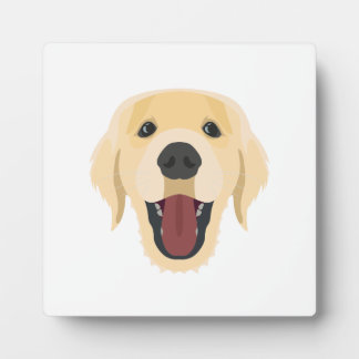 Illustration dogs face Golden Retriver Plaque