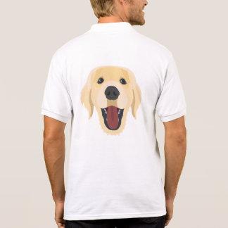 Illustration dogs face Golden Retriver Polo Shirt