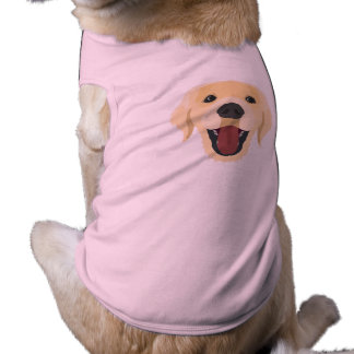Illustration dogs face Golden Retriver Shirt