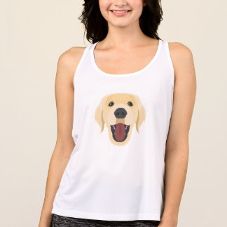 Illustration dogs face Golden Retriver Singlet
